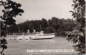 SS Cayuga Niagara River Ontario ON Steamer Ship Boat Real Photo Postcard E31