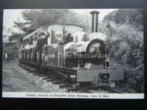 Isle of Man Steam Railway Locomotive SEA LION ISLAND EXP Groudle Glen - Postcard