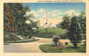 Lincoln Monument, Oak Ridge Cemetery Springfield Illinois IL Linen