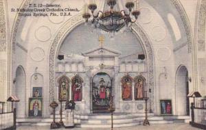 Florida Tarpon Springs St Nicholas Greek Orthodox Church Interior Curteich