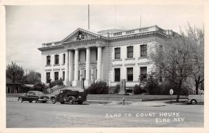 D82/ Elko Nevada NV Real Photo RPPC Postcard c50s Elko County Court House 5