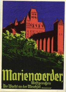 poland, KWIDZYN MARIENWERDER, Die Wacht an der Weichsel Propaganda WWII (1940s)