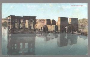 099248 EGYPT Phylae inondated Vintage colorful PC