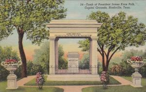 Tennessee Nashville Capitol Grounds Tomb Of President James Knox Polk Curteich