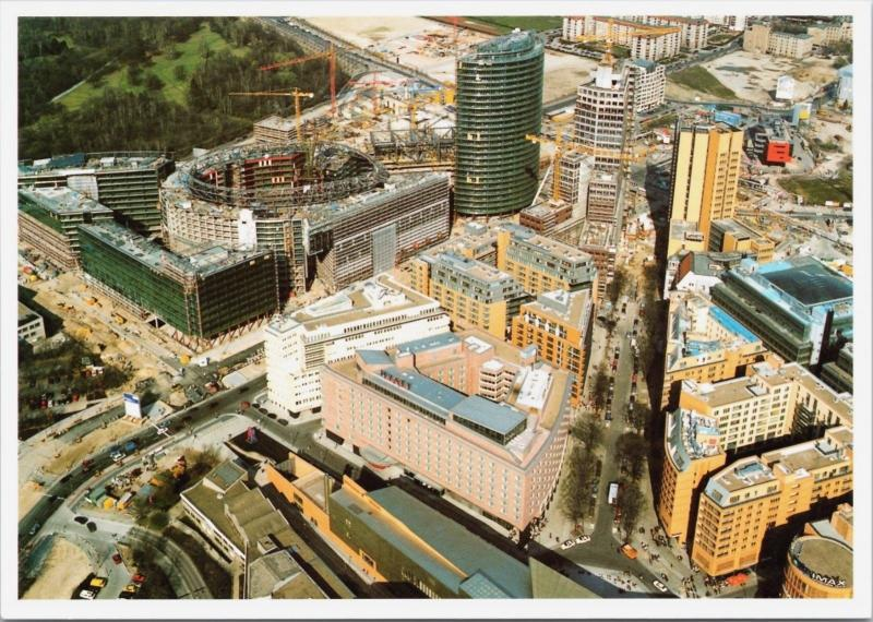 Baustelle Berlin April 1999 Grand Hyatt Hotel Postdamer Platz Sony Postcard D34