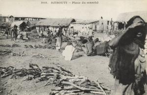 CPA Djibouti Afrique - Place du Marché (86922)