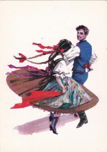TANCE SLASKIE - CHUSTKOWY, Poland , 50-70s ; Dancers