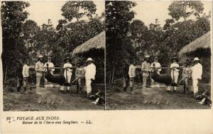 CPA VIETNAM INDOCHINE-Retour dee la Chasse aux Sangliers (321104)