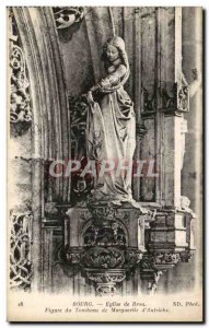 Postcard Old Church Of Brou Bourg Figure Tomb of Margaret of Austria