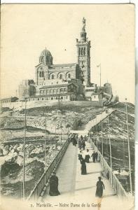 Marseille, Note Dame de la Garde, 1913 used  Postcard CPA