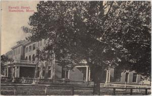 Montana MT Postcard 1913 HAMILTON Ravalli Hotel Building