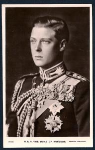 HRH Duke of Windsor REAL PHOTO unused c1920's