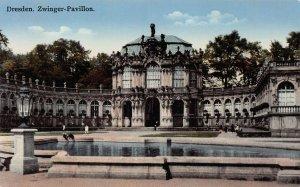 Zwinger Pavillon, Dresden, Germany, early postcard, unused