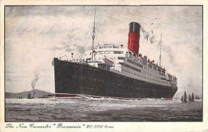 The New  Cunard R.M.S. Franconia  Art Vintage Postcard