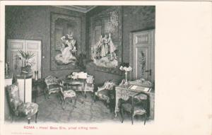 ROMA , Italy , 1890s ; Hotel Beau Site , privat sitting room