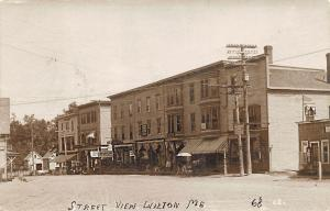Wilton ME Drug Store Business District Storefronts Horse & Wagons RPPC