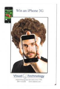 Modern Advertising Postcard Win an iPhone Digital Photograph