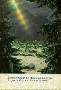 Belgium Village Snowy Houses Mountains Panorama Postcard