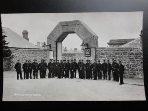 Devon: Princetown Prison Warders Group Photo - Old RP Postcard