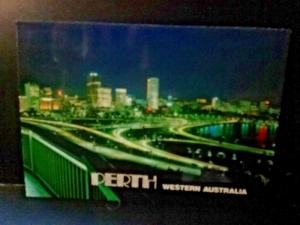 Postcard PERTH in Western Australia Lights from King's Park