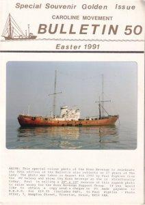 Radio Caroline Pirate Ross Revenge Ship 1991 Magazine Postcard Photo Book