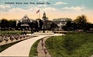 Florida Orlando Cathedral School From Park 1916