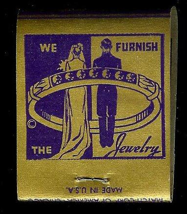 MORTIMERS JEWELRY 1950's Full Unstruck Matchbook
