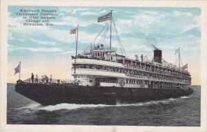 Whaleback Steamer Christopher Columbus , Chicago Illinois - Milwaukee Wisco...