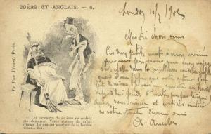 BOER WAR, Caricature Queen Victoria and Joseph Chamberlain (1902) Stamp