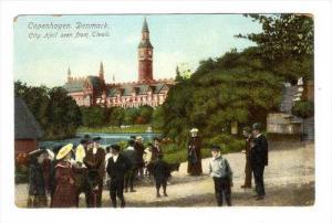 City Hall Seen From Tivoli, Copenhagen, Denmark, 1900-1910s