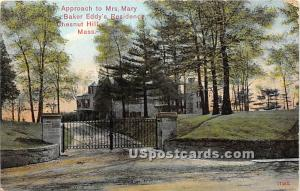 Approach to Mrs Mary Baker Eddy's Residence Chestnut Hill MA 1909