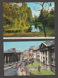 IRELAND Color Postcards Botanic Gardens Dublin Trnity College Limerick Booklet