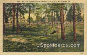 Intrenchments, Crater Battlefield - Petersburg, Virginia