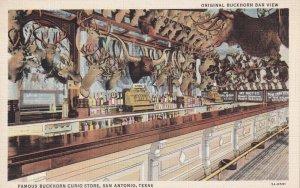 SAN ANTONIO, Texas, 30-40s; Original Buckhorn Bar View, Buckhorn Curion Store