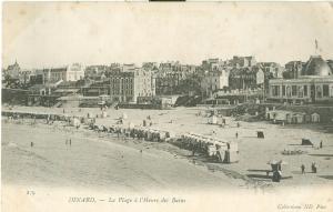 Dinard, La Plage a l'Heure des Bains, early 1900s Postcard