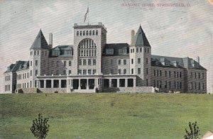 1910 Carte Postale - Maçonnique Maison - Springfield Ohio - Bâtiment Vue