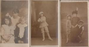 Unusual Childrens Hat Hats 3x Antique Postcard