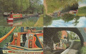 Oxford Canal Narrow Boat Cabin 4x Postcard s