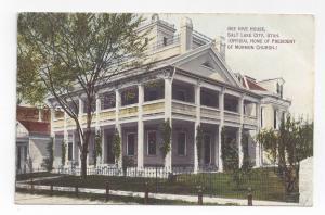 Salt Lake City Utah Bee HIve House Vintage UT Postcard ca 1912 Moon Book Co