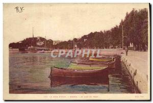 Old Postcard Bandol's Wharf harbor Boats