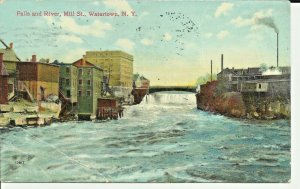 Falls and River,Mill Street, Watertown, New York