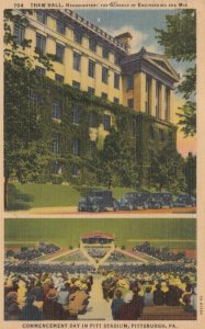 PITTSBURGH, Pennsylvania, 1930-1940s ; Commencement Day In Pitt Stadium