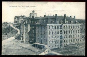 dc1361 - CHICOUTIMI Quebec Postcard 1910s Seminary by Cote