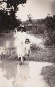China or Philippines Locals In Typical Costume Real Photo