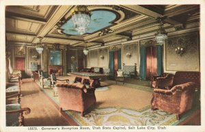 Postcard Governor's Reception Room Utah State Capitol Salt Lake City