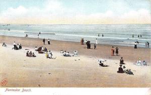Nantasket Beach Massachusetts~Sands and Water~1906 MV Co Postcard #7378