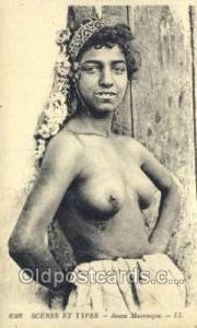 Jeune Mauresque Arab Nude Old Vintage Antique Post Card Post Card  Jeune Maur...