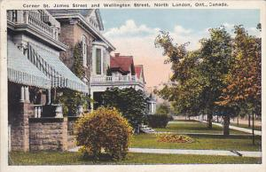 Canada Corner St James Street and Wellington Street North London Ontario 1922