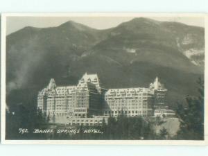 1930's rppc HOTEL SCENE Banff Alberta AB W0924