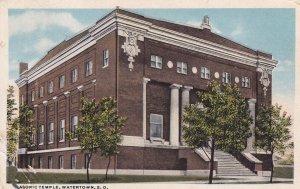 WATERTOWN, South Dakota, PU-1923; Masonic Temple